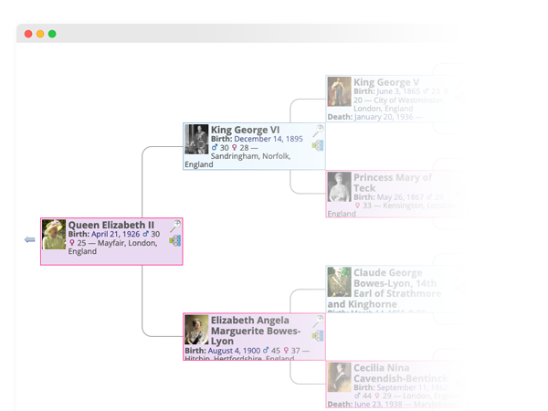 Example Pedigree Screenshot
